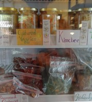 Alchemy fridge full of raw food take away goodies