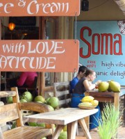 Cafe Soma - quick stop there on last day. Try the Funky Monkey