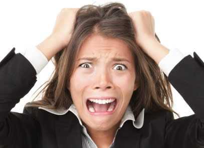 Girl stressed