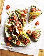 a beautiful pizza raw food recipe