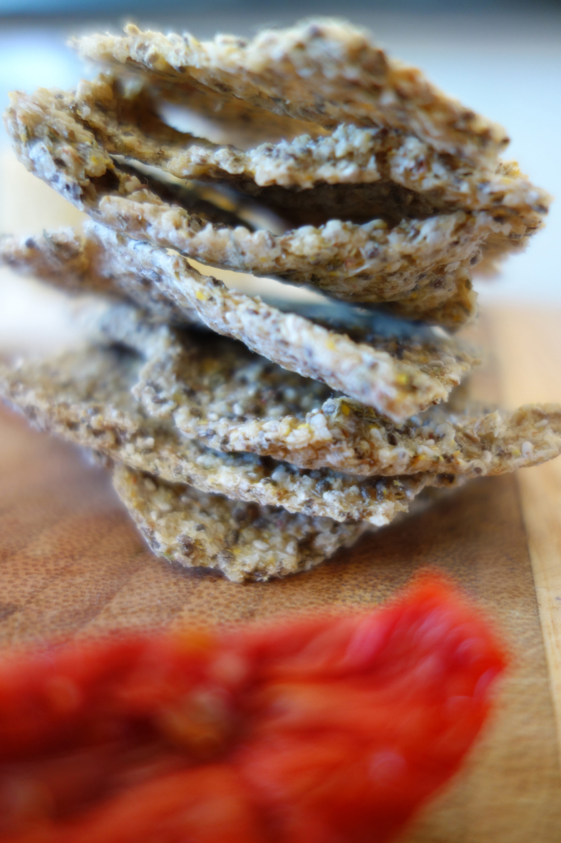 Chia & Sprouted Quinoa Crackers