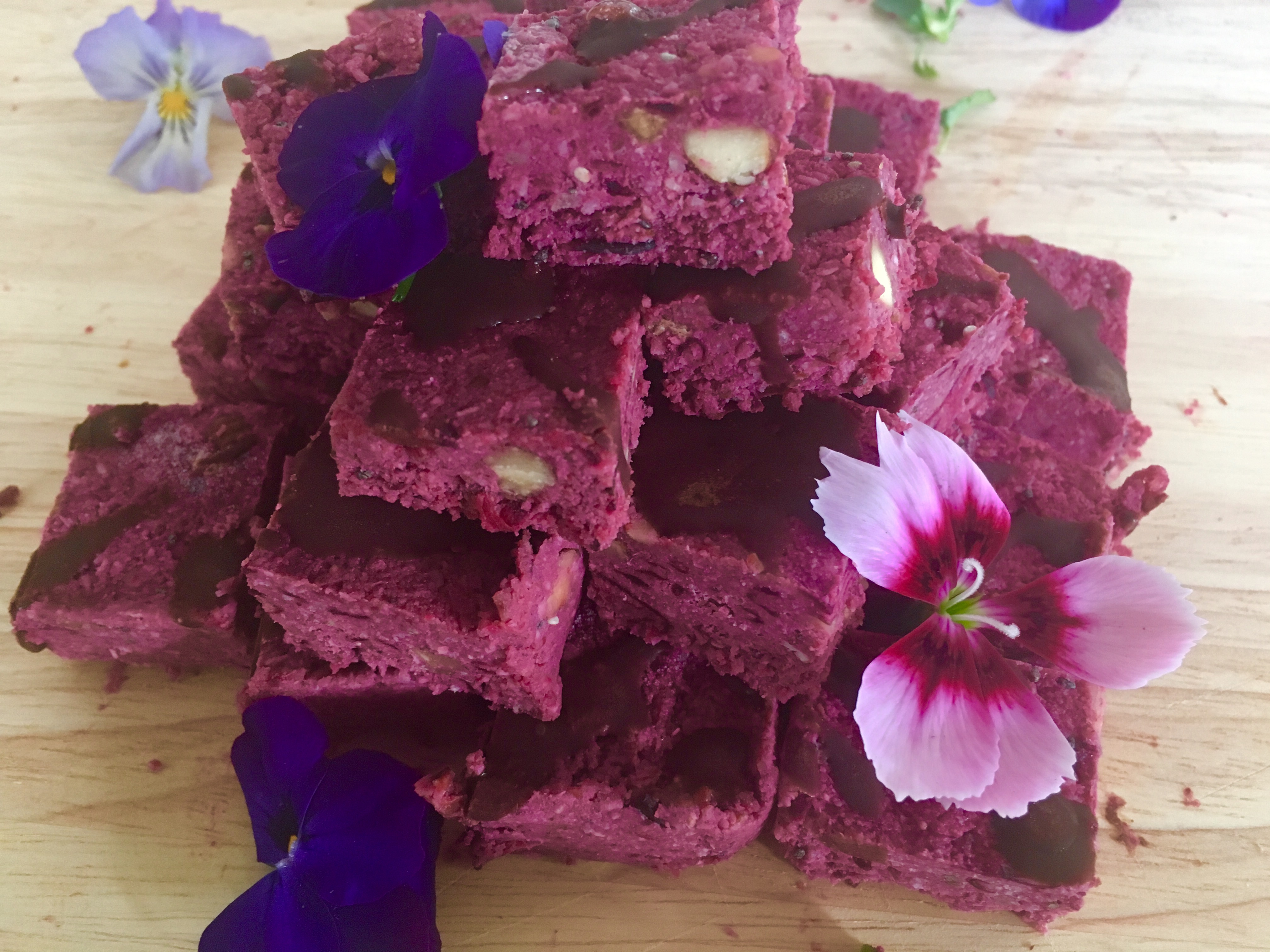 cherry beetroot bites