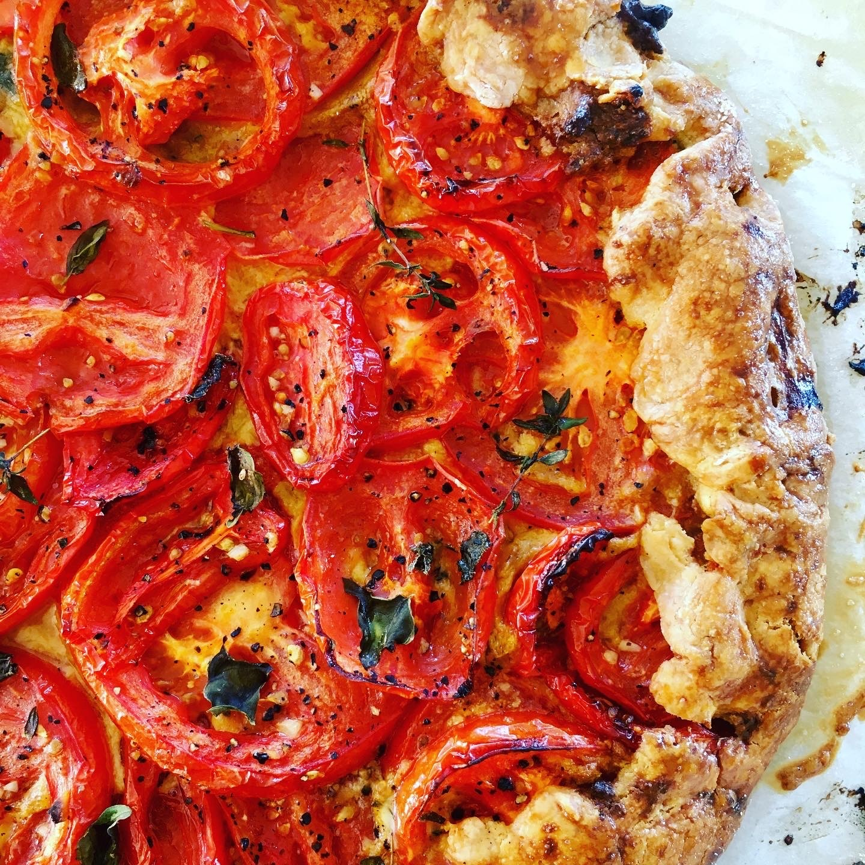 Tomato Gluten Free Galette with Sun Dried Tomato & Basil ...